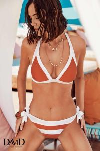 Costume da bagno donna bikini due pezzi a triangolo DAVID