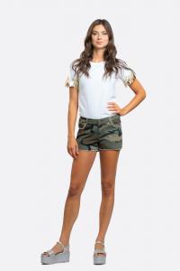 NOSECRETS 211NS017 Shorts in drill denim mimetico