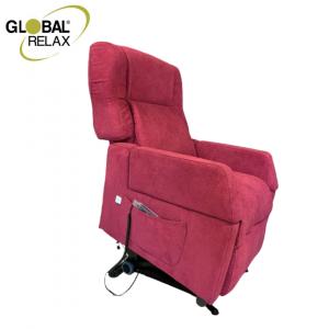 130 - Poltrona relax elettrica alzapersona firmata Global Relax