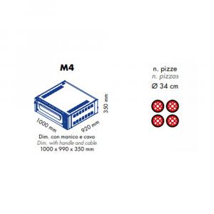 Forno Pizza Professionale M4 Sovrapponibile - 4 x Ø 34 cm