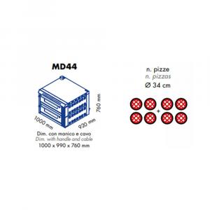 Forno Pizza Professionale MD44 - 4+4 x Ø 34 cm