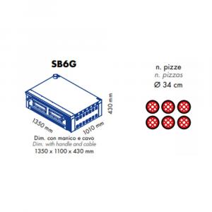 Forno Pizza Professionale SB6G - 6 x Ø 34 cm