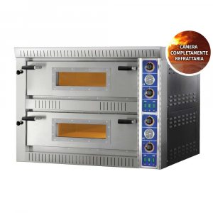 Forno Pizza Professionale SBD44 TOP - 4+4 x Ø 30 cm