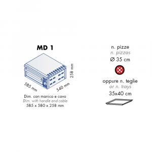 Forno Pizza Professionale MD1 - 1 x Ø 35 cm