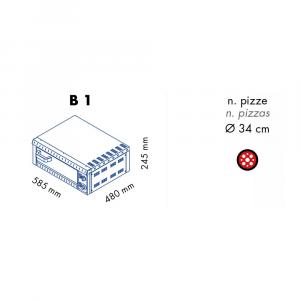 Forno Pizza Professionale B1 - 1 x Ø 34 cm