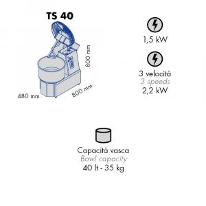 Impastatrice a Spirale TS40 Testa Sollevabile