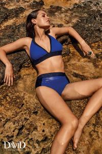 Costume da bagno donna bikini due pezzi slip vita alta DAVID