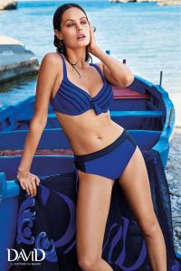 Costume da bagno donna bikini due pezzi blu e nero  DAVID