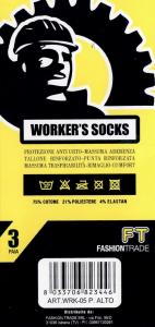 6 Paia di calzini scarpa antinfortunistica da lavoro corti WRK