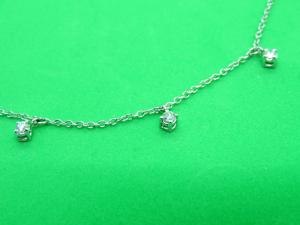 Collana in Oro bianco 18Kt con Diamanti  taglio Brillante