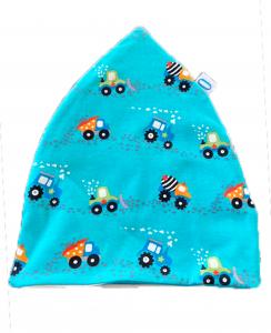 Cantiere azzurro- cuffia doppia in cotone