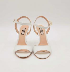 Sandali con tacco in pelle bianca Liu Jo