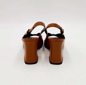 Sandalo cuoio in pelle Emanuela Passeri