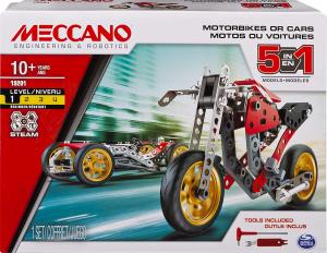 MECCANO MULTI MODELLO DA 5 - MOTO DA CORSA 6053371 SPIN MASTER new