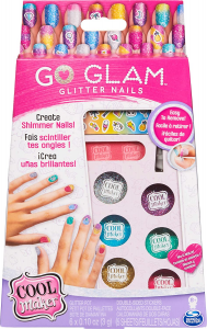 COOL MAKER, GO GLAM GLITTER NAILS UNGHIE 6059916 SPIN MASTER new