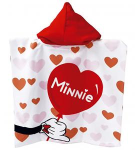 Poncho Minnie bambina 55x110 cm