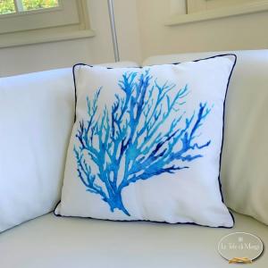 Cuscino Corallo blu