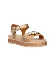 Sandalo platform con pietre decorative