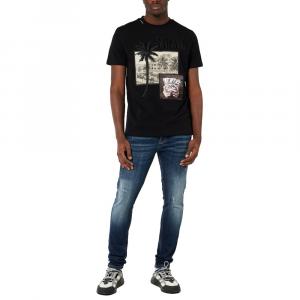 T-shirt MY BRAND 1 X21 001 A0004 BLACK -21