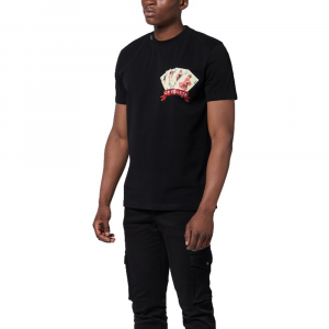 T-shirt MY BRAND 1 X21 001 A0012 BLACK -21
