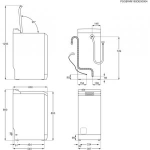AEG L7TBE722 lavatrice Libera installazione Caricamento dall'alto 7 kg 1200 Giri/min E Bianco