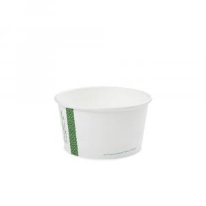 Ciotole asporto zuppe in cartoncino -350ml serie green stripe