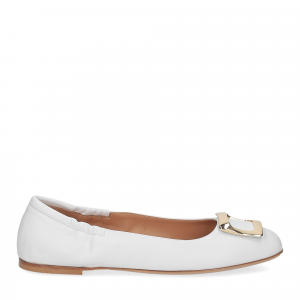 Anna de Bray ballerina SQ051 pelle bianca-2