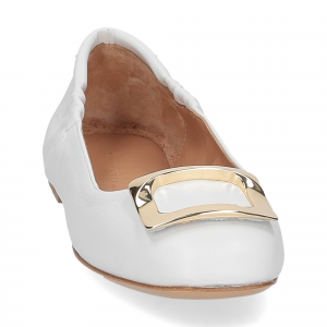 Anna de Bray ballerina SQ051 pelle bianca-3
