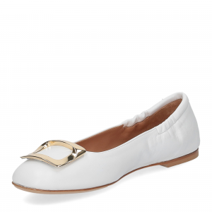 Anna de Bray ballerina SQ051 pelle bianca-4
