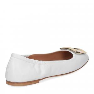 Anna de Bray ballerina SQ051 pelle bianca-5