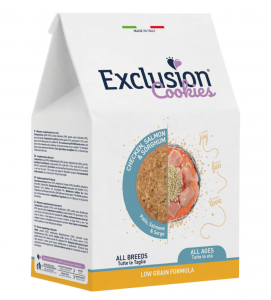 Exclusion - Cookies - Low Grain - Pollo, Salmone e Sorgo - 300gr