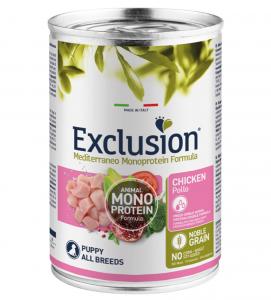 Exclusion - Mediterraneo Monoprotein - Puppy - Pollo - 400g x 6 lattine