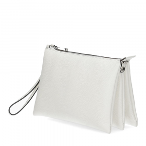 Loristella borsa pochette Lily 2525 pelle bianca-2