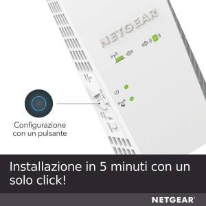 Netgear EX6420 Ripetitore di rete Bianco 10, 100, 1000 Mbit/s