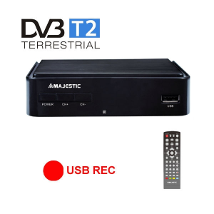 New Majestic DEC-664 HD USB REC Terrestre Nero