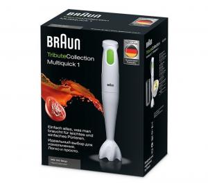 Braun Multiquick 1 MQ 100 Frullatore ad immersione 450 W Verde, Bianco
