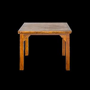 Tavolo quadrato con listelle in legno di teak siam thailandese