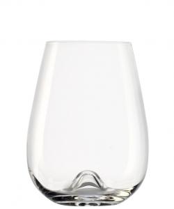 Set 6 bicchieri acqua in vetro cristallo, 475 ml Vulcano cm.11,5h diam.8,7