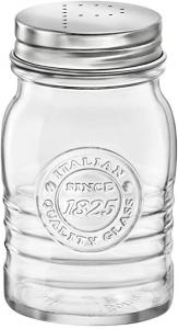 Spargipepe in vetro trasparente con tappo in acciaio inox CL 24 Officina