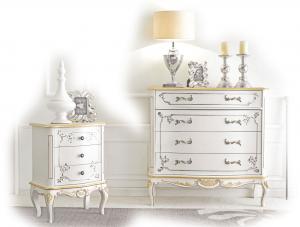 Commode décorée pour chambre White Gold