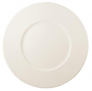 Piatto da tavola piano in porcellana New Bone Gourmet