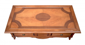 Solid wood low coffee table