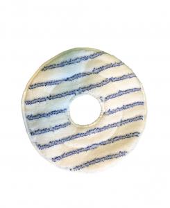 N° 1 PAD microfibra da 14 pollici 350 mm a righe blu con foro centrale