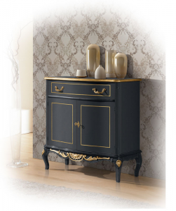 """Sideboard """"Dark and Gold"""""""