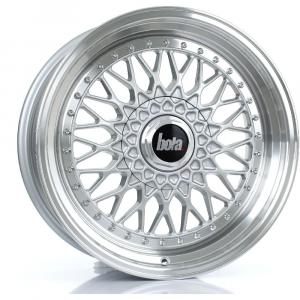Cerchi in lega  BOLA  TX09  18''  Width 8,5   5x108  ET 20 to 38  CB 76    Silver Polished Lip