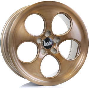 Cerchi in lega  BOLA  B5  18''  Width 8,5   5x100  ET 40 to 45  CB 76    Bronze Brushed Polished Face