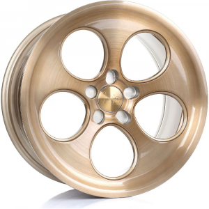 Cerchi in lega  BOLA  B5  18''  Width 9,5   5x108  ET 40 to 45  CB 76    Bronze Brushed Polished Face