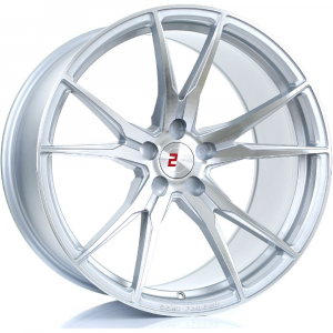 Cerchi in lega  2FORGE  ZF2  20''  Width 12   5x108  ET 27 to 58  CB 76    Silver Polished Face