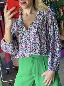 Camicia Scollo V floreale Vicolo