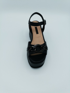 Sandalo platform AP254 Andrea Pinto nappa e accessorio